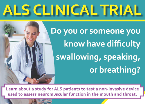 ALS research flyer