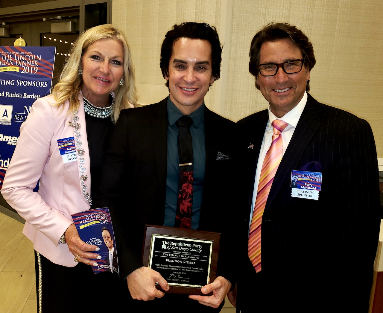 Dr. Perry and Judith Mansfield with Celebrity Brandon Straka