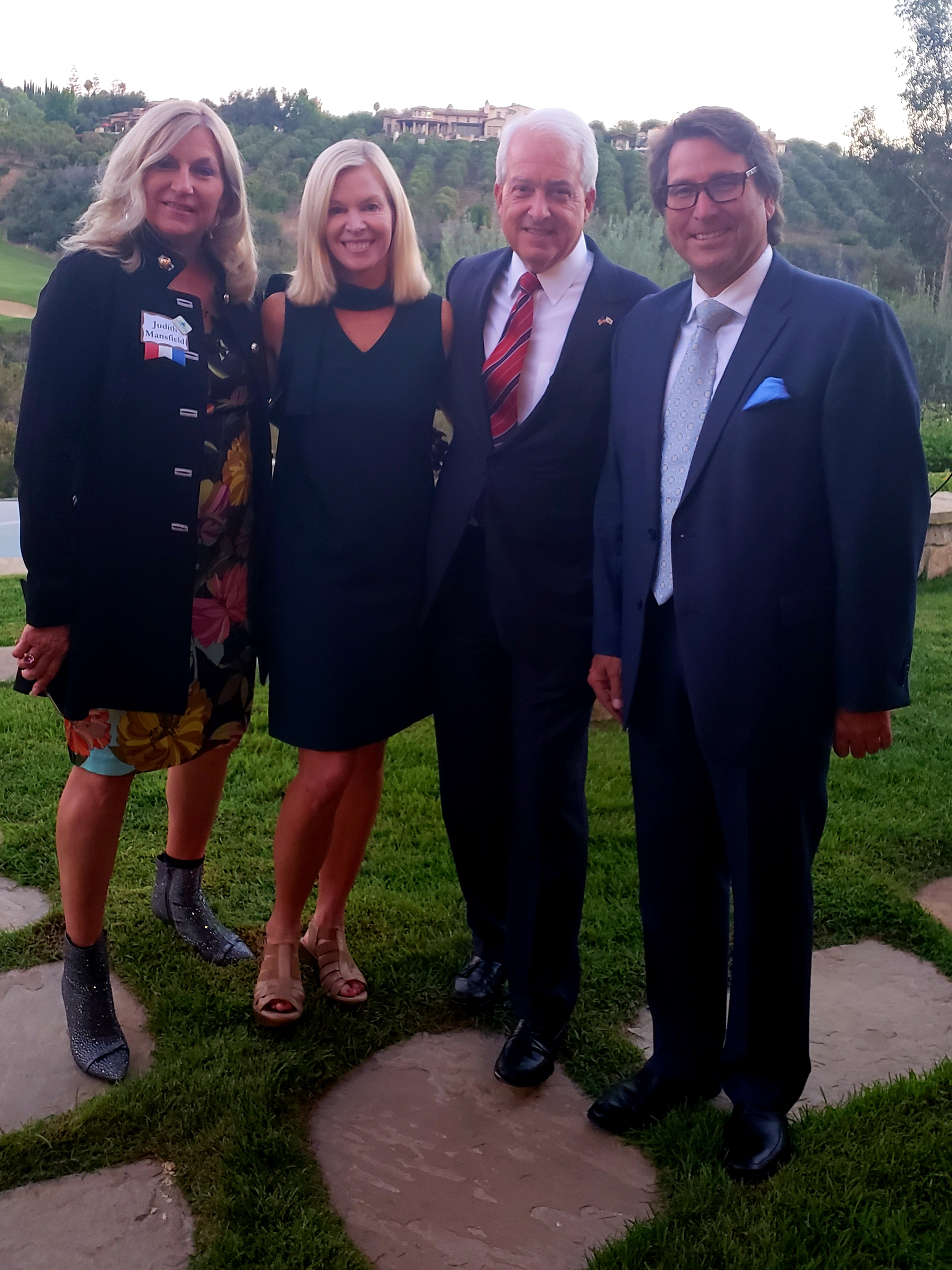 With Governor Candidate John Cox and Judith Mansfield