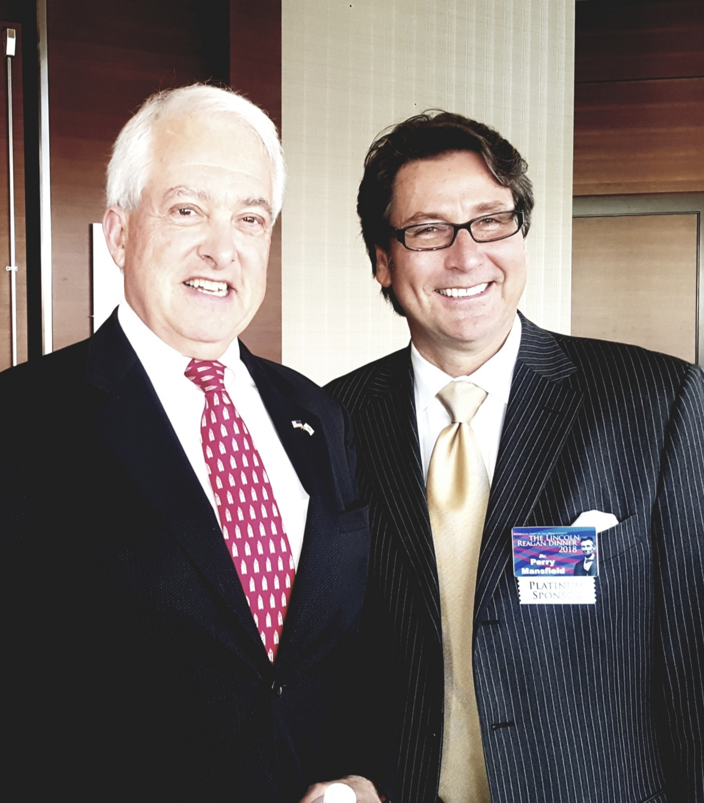 Dr. Perry Mansfield with John Cox
