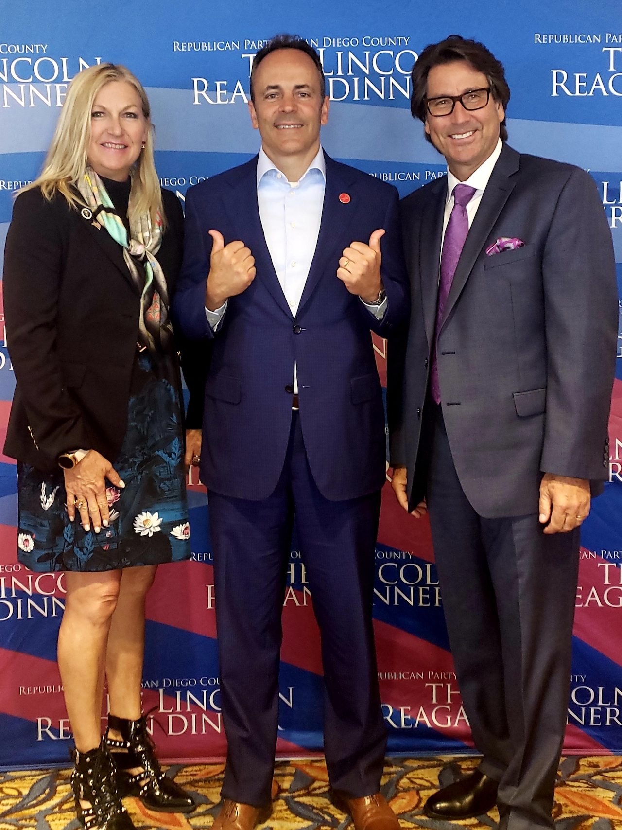 Dr. Perry and Judith Mansfield with Governor of Kentucky Matt Bevin