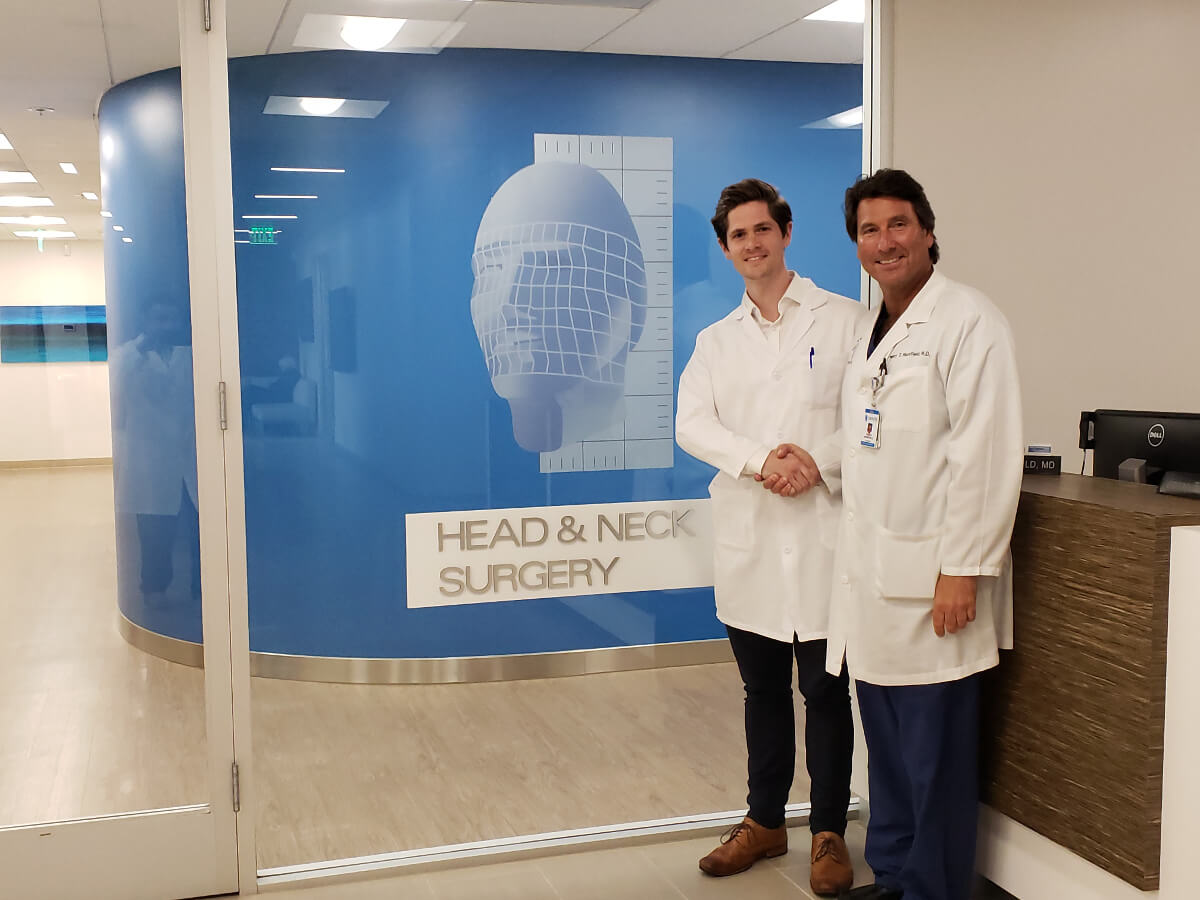 Dr. Dan Bradley Head and Neck Cancer Surgeon Visits Dr. Mansfield